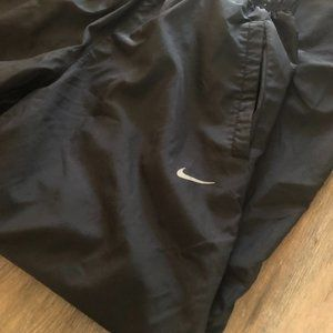 NIKE LINED TRACK PANTS BLACK AND GRAY WOMEN'S SZ S
